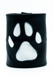 ruff GEAR HOUND Leather Wrist Strap Wallet White Black