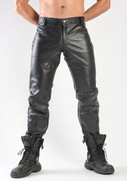ruff GEAR Leather Jeans Black