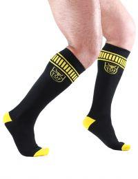 TOF Paris Socks Footish Black Yellow