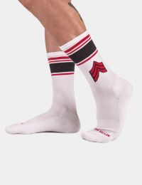Barcode Berlin Sports Socks Vvv White Red Black