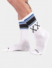 Barcode Berlin Sports Socks XXX White Royal Black