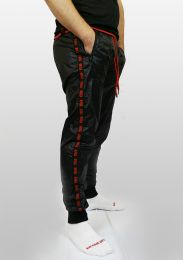 ruff GEAR Scally Tape Trackie Bottoms Black Red