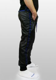 ruff GEAR Scally Tape Trackie Bottoms Black Blue