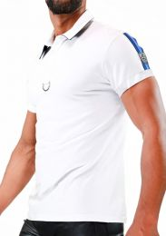 TOF Paris Smart Polo Shirt White Blue