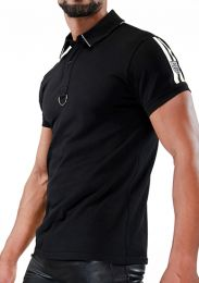 TOF Paris Smart Polo Shirt Black White