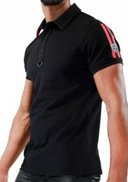 TOF Paris Smart Polo Shirt Black Red