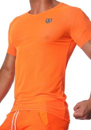 TOF Paris Happy T Shirt Neon Orange