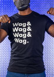 Mr S Leather Wag Wag Wag Fitted T Shirt