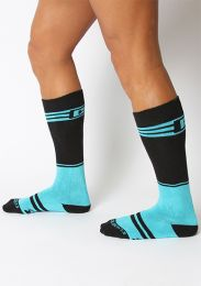 Cellblock 13 Torque 2.0 Knee High Socks Turquoise