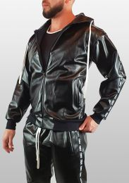 ruff GEAR Fetish Tape Trackie Top Black White